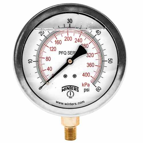 Winters Instruments - PFQ Series Liquid Filled Pressure Gauges
